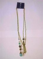Turquoise bead necklace (Code 2254)